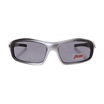 sportzonnebril unisex zilver/zwart met grijze lens