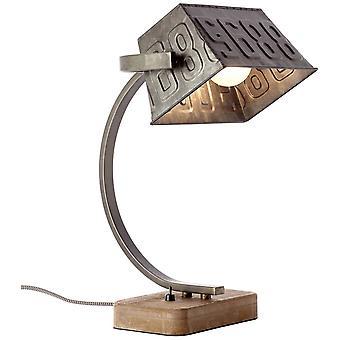 BRILLIANT Lampa Drake Bordslampa Svart stål/Brun | 1x A60, E27, 40W, lämplig för normala lampor (medföljer ej) |