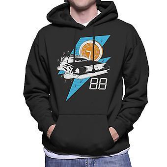 Terug naar de toekomst Delorean 88 Miles Per Hour Men's Hooded Sweatshirt