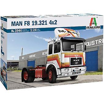Italeri Man F8 19.321 2 asige trekker truck 1:24 schaalmodelkit