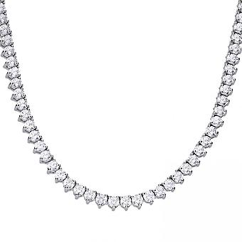 Diamonfire Silver White Zirconia Tennis Collier Necklace N4231
