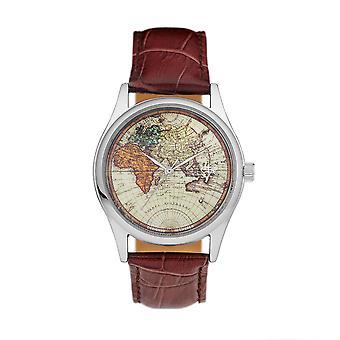 Cheapo Vintage World Watch - Brown