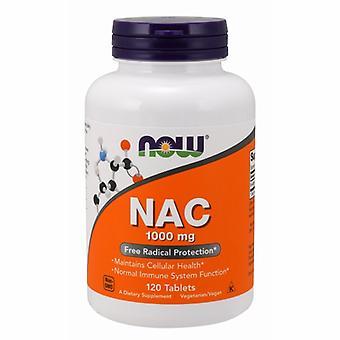 الآن الأطعمة N-أسيتيل-L-سيستين (NAC)، 1000 ملغ، 120 علامات التبويب