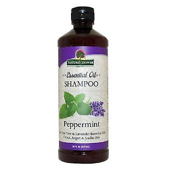 Nature's Answer Essential Oil Shampoo, Peppermint 16 Oz
