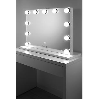 Profesjonell audio hollywood makeup speil med dimbar LED k719aud