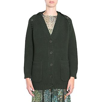 Alberta Ferretti 093266000440 Women's Green Wool Cardigan