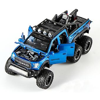 Ford Raptor, Big Wheel Alloy Diecast Model-pull Back Car