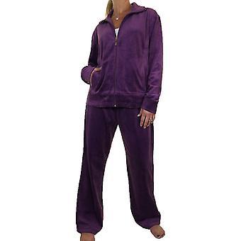 Kvinner's svingete figur pluss størrelse tracksuit sett damer velour co-ord sweatshirt & joggere to delt loungewear
