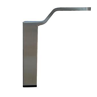 EDELSTAHL Stahl / INOX Quadrate Design Möbel Bein 15 cm
