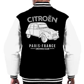 Citro?n Driving Club White 2CV Paris France Men's Varsity Jacket