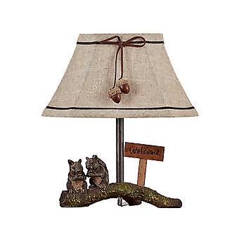 מנורת הדגשה חברים סנאי עם גוון טבעי