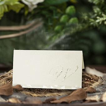 20 'W' Diamante Wedding Name Place Card