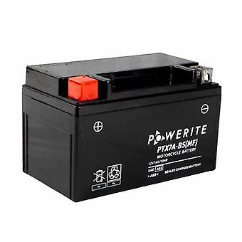 Powerite PTX7A-BS Sealed Motorcycle Battery 12V 6 Ah