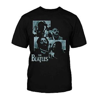 The Beatles Kids T Shirt Black Let It Be Studio Image Official (Ages 5-12yrs)
