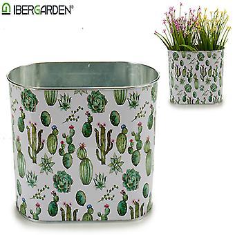 Planter Metal Kaktus (12,5 x 15,5 x 24 cm) Suuri Soikea