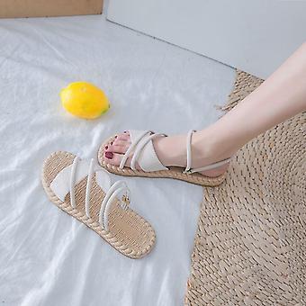 Kesäkengät Nainen Sandaalit Flat Sandalias Mujer Thin Strips Gladiator Beach