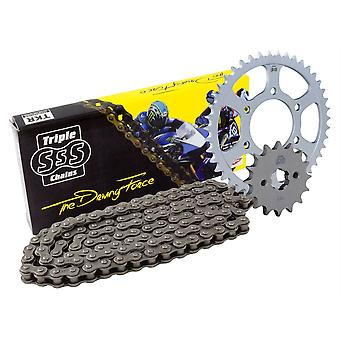 Triple S 520 Heavy Duty Chain and Sprocket Kit Compatible with Cagiva Mito 125 Evolution 2000-04