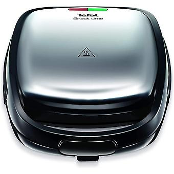Tefal Snack Time SW341D40 Sandwich and Waffle Maker,Silver and Black