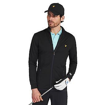 Lyle & Scott Mens Tech Full Zip Midlayer Stretch Golf Sweater