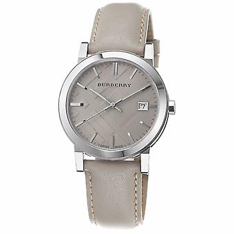 Burberry BU9010 Large Check Tan Leather Strap Men's Watch