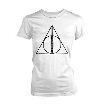 Ladies Harry Potter Deathly Hallows Symbole Officiel Tee-Shirt