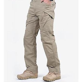 גברים מכנסי מטען טקטי, כיסים רבים למתוח מכנסיים מזדמנים אדם גמיש