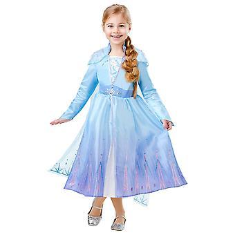 Frozen Elsa Frozen 2 Deluxe Costume Childrens 9-10 Years