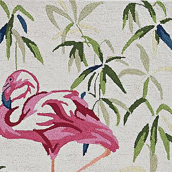 2' x 7' Ivory or Pink Flamingo Runner Rug