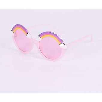 Round Rainbow Sun Glasses