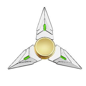 10cm Triangle Rotary Rotating Fingertips Finger Dart (silver)