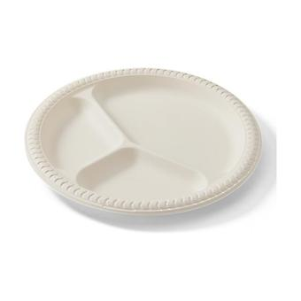 White Divided Plates 20 units