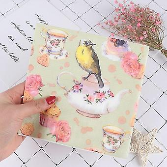 Virág és madár decoupage szalvéta papírszövet
