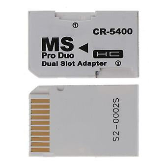 Micro Sd Tf To Memory Stick Ms Pro Duo For Psp Card Dual 2 Slot Adaptateur