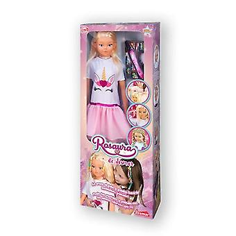 Baby doll with accessories rosaura (105 cm)
