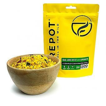 Firepot Dal a ryža + špenát