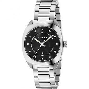 Gucci Ya142404 Black Dial Stainless Steel Strap Ladies Watch
