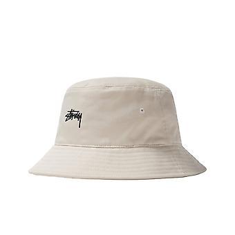Unisex stussy stock bucket hat natural 1321023.white