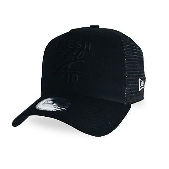 Fresh Ego Kid | Fek-460 New Era Mesh Trucker Cap - Black/black