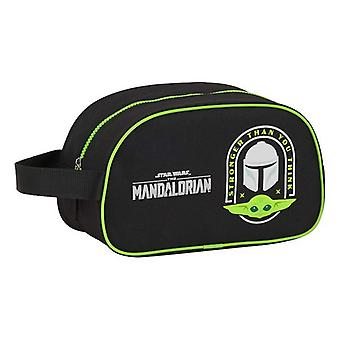 School Toilet Bag The Mandalorian Black Green