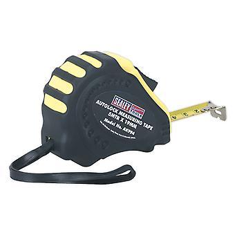 Sealey Ak994 オートロック測定テープ 5Mtr(16Ft) X 19 ミリメートル メートル/インチ