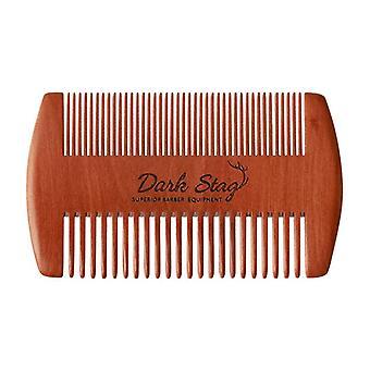 Barba de ciervo oscuro peinado peine superior grooming para los hombres