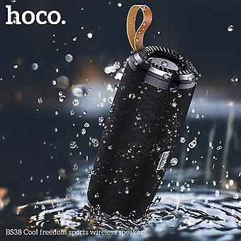 HOCO BS38 3W بلوتوث لاسلكي 5.0 مكبر الصوت المزدوج السلبي الحجاب الحاجز TWS ستيريو TF بطاقة U مكبر الصوت القرص