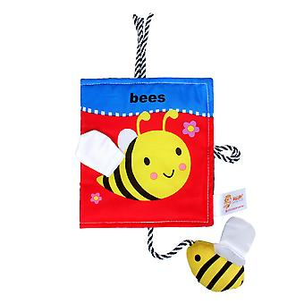 Bees Colorful Interesting Cloth Book With Sound Paper Mirror Baby Fabric Book