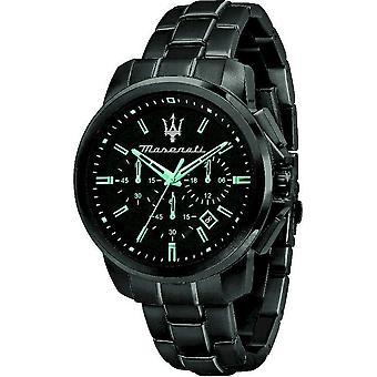 Maserati Мужские часы Aqua Edition 44mm Хронограф Черный R8873644003