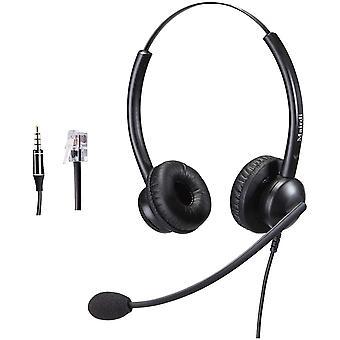 FengChun Telefon Headset mit Noise Cancelling Mikrofon fr Cisco Telefon, Binaural Callcenter Headset