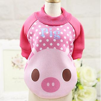 Dog cat clothes small dog teddy crew neck casual sweater autumn and winter