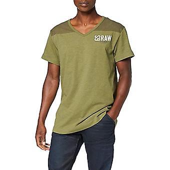 G-STAR RAW Grafik 17 Lös V-Ringad T-Shirt, Grön (Sage 724), XX-Små Män