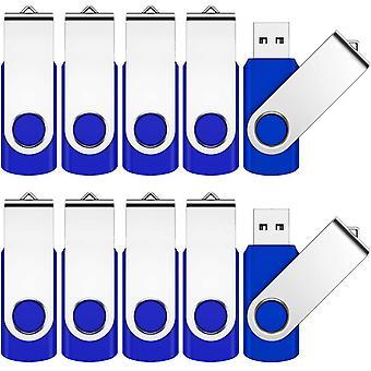 FengChun 4GB USB Memory Stick 10 Pack Pen USB 2.0 Flash Drive Schwenken Design Daumen-Laufwerk für Daten