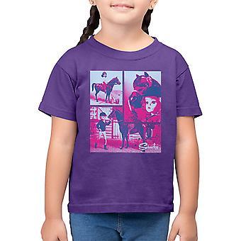 Sindy Horse Riding Kid's T-Shirt