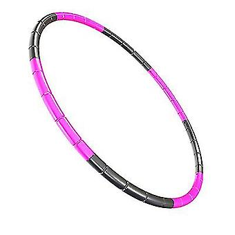 Red black 7 knots collapsible hula hoop 65cm fitness exercise gym workout hoola for children az19303